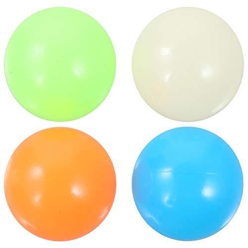 Angoily 8Pcs 65 Mm Bolas Antiestrés para Niños Bolas Fluorescentes Pegajosas para El Estrés Juguetes Niños Y Adultos Ansiedad Tdah Autismo Y Más