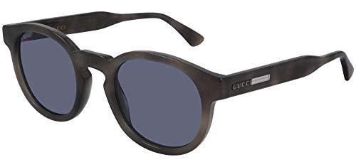 Gucci Gafas de sol GG0825S 004 Gafas de sol Hombre color Azul Habana tamaño de lente 49 mm
