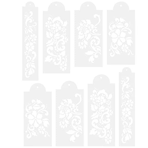 EXCEART 2 Juegos de Plantilla de Decoración de Pasteles DIY Artesanía Ahueca Hacia Fuera Spray Galletas Plantillas de Alimentos Dibujo Graffiti Plantilla Regla para Niños Niños