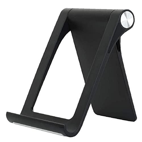 Soporte para teléfono Plegable Tablet Soporte Ajustable de la Tableta del Estante Inteligente Cuna del Muelle para Smartphone Tablet Negro