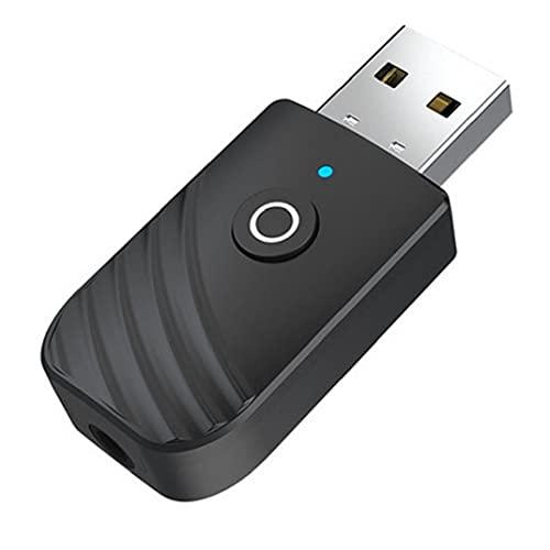 Receptor del transmisor USB, Adaptador de Audio portátil inalámbrico 3IN1 para Dispositivos de Audio de 3.5 mm Auto Conexión