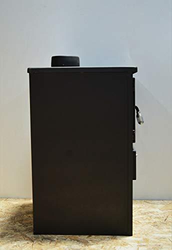Estufa de leña, para combustible sólido, con tapa y bisagra de acero, 8,4kW