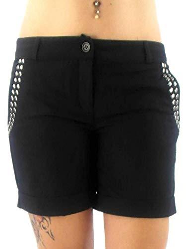 ONLY Short Walkshort korte broek BAK EX Stud Mini Shorts BLACK klinknagels 15044691