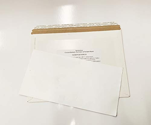 Stick N Repair Cracked Bathtub, Pool Liner, Roof, Skylight, Vinyl Skirting, Siding Repair Kit (White)