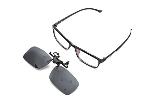 Pilestone TP-004 Color Blind Glasses: 180° Flippable Clip On Dark Lens