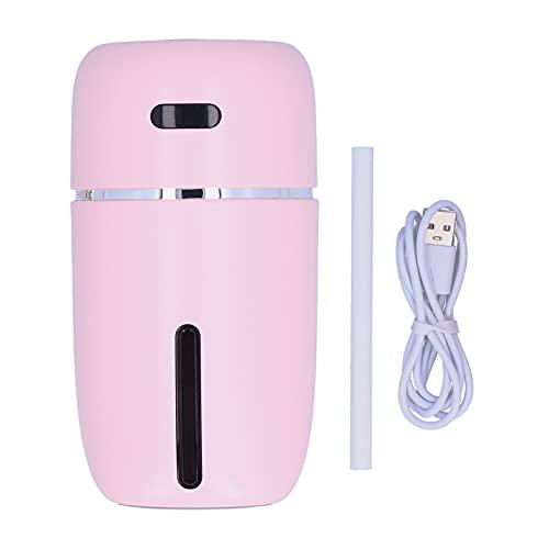 Humidificador USB, humidificador confiable Seguro de Usar sin radiación con luz Ambiental Nocturna para Sala de Estar para Dormitorio(Pink, Pisa Leaning Tower Type)