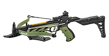 Isaazon 80lbs Green Black 225+ FPS Self Cocking Pistol Crossbow + 3pc Arrows Hunting Grip Bow New