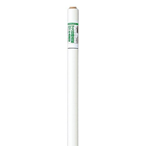 マルアイ マス目模造紙 白 10m巻 マ-10