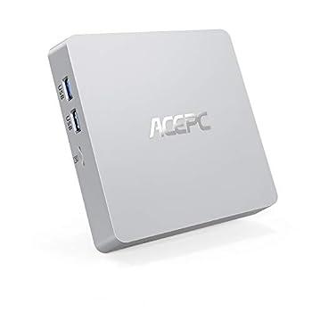 Mini PC T11 Intel Atom Z8350 Windows 10 Pro Mini Computer 4GB DDR/64GB eMMC/120GB 2.5-Inch SATA III Internal SSD,Support 4K HD,HDMI+VGA Output,2.4G/5G WiFi,Bluetooth,1000Mbps Ethernet