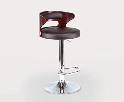 Tabouret en bois Bar tabouret de bar tabouret chaise haute, tabouret de bar tabouret de réception, ascenseur européen rétro chaise de bar en bois massif brun (Couleur : #3)
