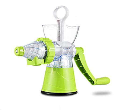 HXIYANG Máquina exprimidora Profesional Manual, Extractor de Jugo Fresco de Frutas y Verduras de plástico multifunción para Viajes en la Cocina del hogar