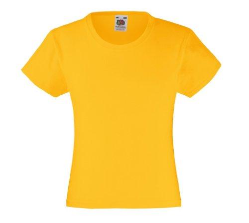Mädchen T-Shirt Girls Kinder Shirt - Shirtarena Bündel 140,Sonnenblumengelb