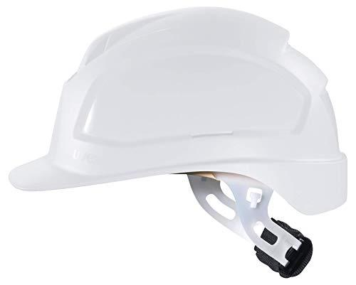 Uvex Casco de protección Pheos S de WR, Material: Polietileno, electricistas Casco con dial, Color: Blanco