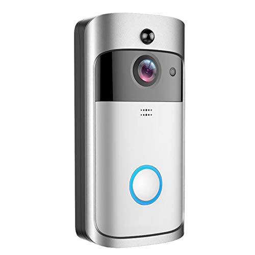 Wireless Intelligent Camera,KKmoon Wireless Intelligent Doorbell 720P Camera WiFi Visual Video Phone Door Bell 2-way Audio Video Doorbell Support Infrared Night View PIR Motion Sensor APP Remote