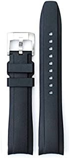 Everest Curved End Rubber Watchband w/Buckle for Rolex Sports Models