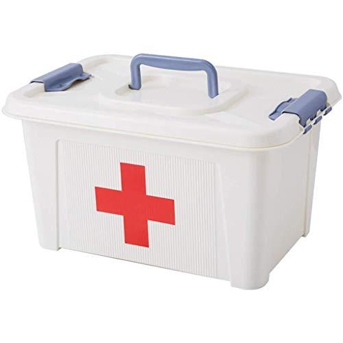 Byrhgood Botiquín de Primeros Caja de la Medicina, de la Capa Doble Kit de Primeros Auxilios, Caja de Almacenamiento portátil, for el hogar, Viajes, Camping, la Oficina y el Lugar de Trabajo