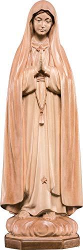 Ferrari & Arrighetti Imagen de la Virgen de Fátima en Talla de Madera Encerada con 3 Tonos Que Mide 10 cm - Demetz Deur