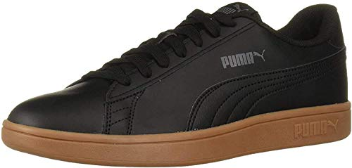 PUMA Smash Sneaker, Black-Gum, 10 M US