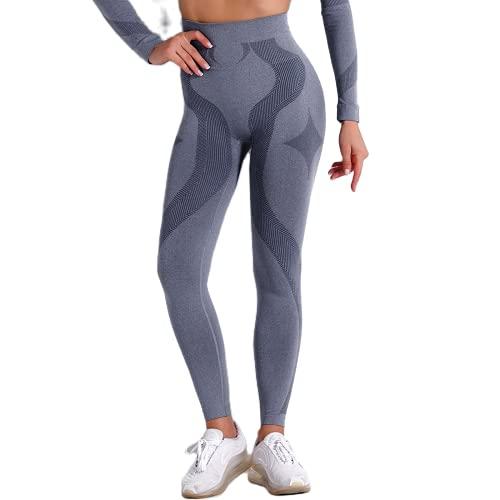 QTJY Pantalones de Yoga Delgados de Cintura Alta de Color Rojo Rosa para Mujer Pantalones de Jogging geométricos Gimnasio Celulitis Transpiración Medias de Entrenamiento DM