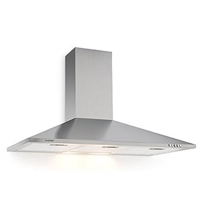 Foto di Klarstein TR90WS Filter 3 - Cappa apirante da cucina, 90 CM, apirazione max 340m³/h, illuminazione con lampade, Grigio