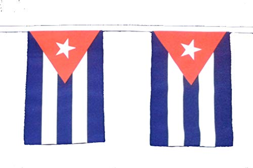 Klicnow Cuba - Guirnalda de banderines (9 metros de largo, 30 banderas)