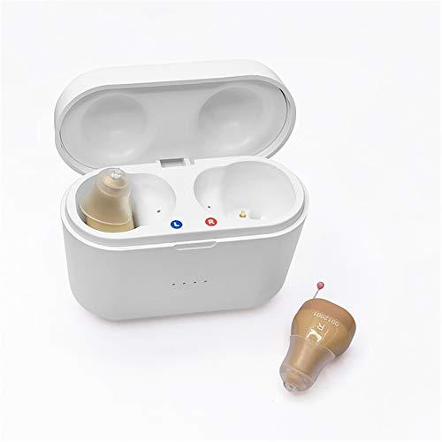 HWZZ Mini Amplificador De Sonido para Adultos, Dispositivo Potenciador De Voz Y Asistencia Auditiva De Audio Personal para TV Y Conversación,Flesh
