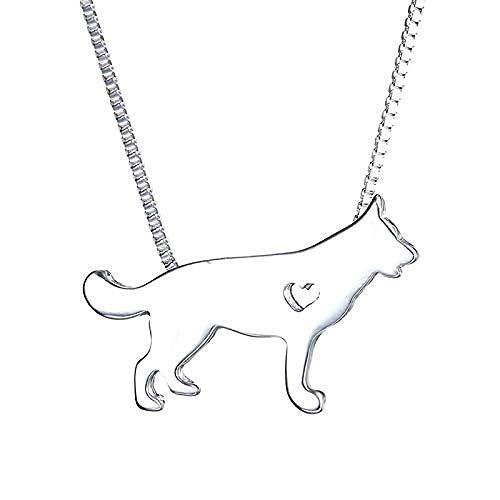 Collar con Colgante de Perro Mascota de Metal para Mujer, Cadena de diseño de Paseo Familiar de Gato, Bonito Bulldog para Hombre, Collar de Cadena de Plata, joyería
