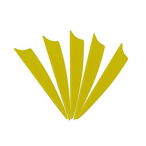 MILAEM Tiro con Arco Pluma de 1.75 Pulgadas /2 Pulgadas/2.5 Pulgadas/3 Pulgadas Plumas de Caucho para Flechas (100 Piezas)