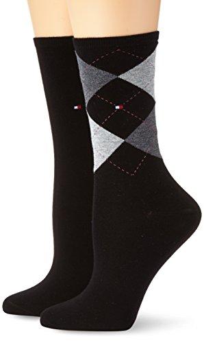 Tommy Hilfiger Damen Socken, 2er Pack, Schwarz (black 200), 35/38