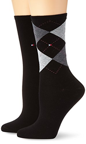 Tommy Hilfiger 443016001 - Calcetines Para Mujer, Negro (Black 200), 35/38