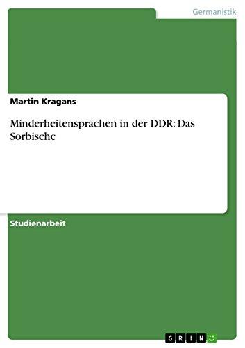 Minderheitensprachen in der DDR: Das Sorbische