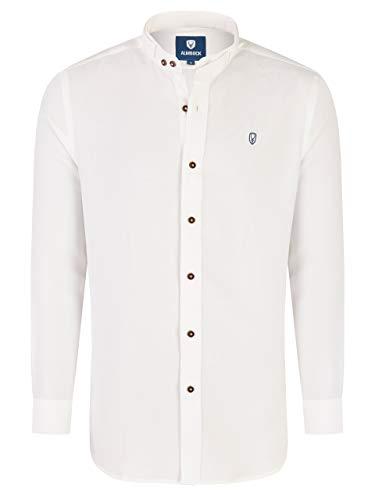 Almbock Hemd Tracht Herren - Trachtenhemd weiß aus Baumwolle in Größe S