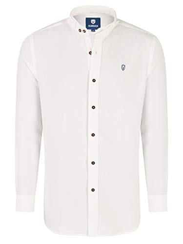 Almbock Oktoberfest Hemden - Trachtenhemd Männer weiß Größe XL