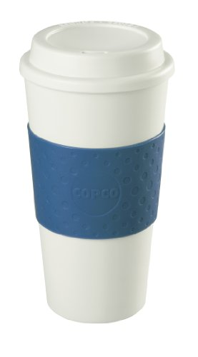Copco 25109966 Acadia Double Wall Insulated Travel Mug with NonSlip Sleeve 16Ounce Blue