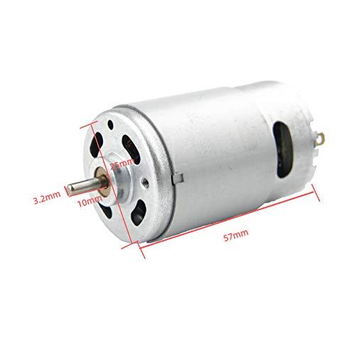 CHANCS 555 Bürstengleichstrommotor 24 V 3500 U/min Ventilatorschutzanzug mit hohem Drehmoment für Bohrer