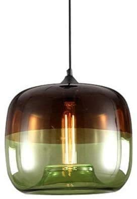 Metal wall light Nordic Creative Round Two-Color Glass Ceiling Pendant Lamp Modern Simple Living Room Kitchen Bedroom Chandelier Decorative Bar Restaurant Aisle Hallway E27 Suspension Light (Color : G