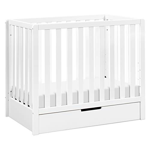 Carter's by DaVinci Colby 4-in-1 Convertible Mini Crib with Trundle in White, Greenguard Gold Certified