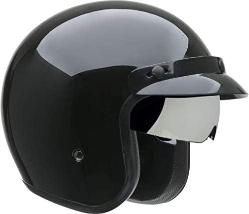 Vega Helmets X390 Retro Open Face Motorcycle Helmet w Sunshield Unisex Adult powersports Gloss product image