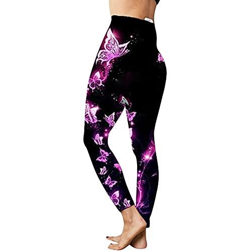 QTJY Leggings de Mujer Impresos en 3D, Leggings de Cintura Alta para Correr en el Gimnasio, Pantalones de Yoga elásticos y de Secado rápido HL
