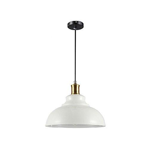 Wings of wind - Lampe en métal E27 Retro Plafonnier Vintage Pendentif Lampe Lampe Ombre (Blanc)