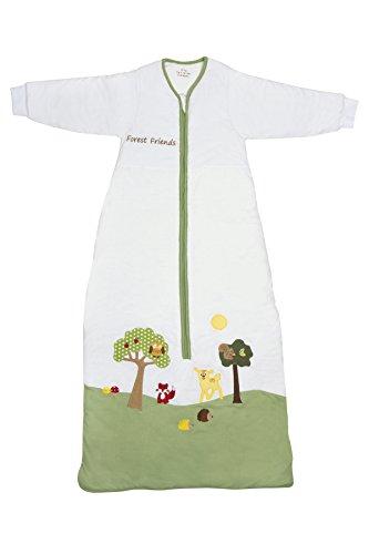 Slumbersac Forest Friends - Saco de dormir de invierno para bebé (manga larga, 3.5 tog, varias tallas: 0 meses a 6 años), diseño de amigos del bosque Talla:18-36 meses