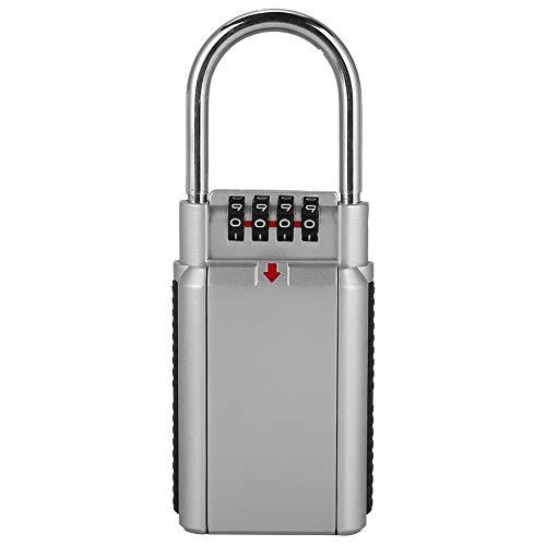 Fudax Caja de Bloqueo de contraseña, Control de Acceso por inducción antirrobo Caja de Bloqueo de Llave de Cuerpo de Metal con Bloqueo de Metal Completo, para hoteles, Habitaciones comerciales,