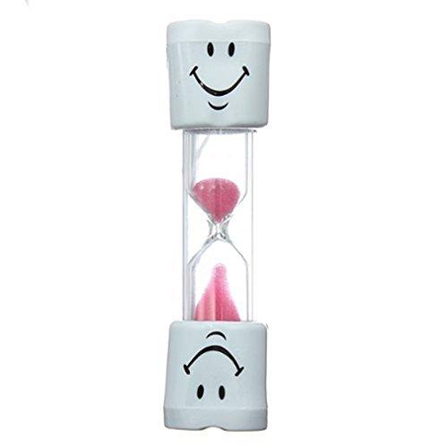 BestOfferBuy Timer da Sabbia Faccina Timer spazzolino per Giochi Cottura Spazzolino da Denti Tempo Conto alla rovescia Calcolo 3 Minuti Bambini Spazzolino Timer Rosa