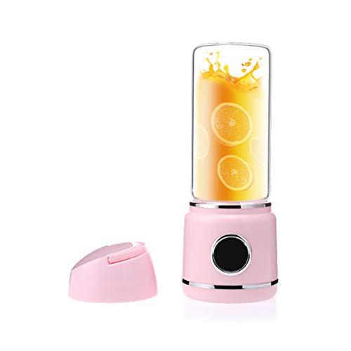 Licuadora de Jugos, Exprimidor Portátil, Mezclador de Frutas USB Recargable -Adecuado para Frutas y Verduras, para Hacer Jugos de Frutas Milkshake, Etc. (P)