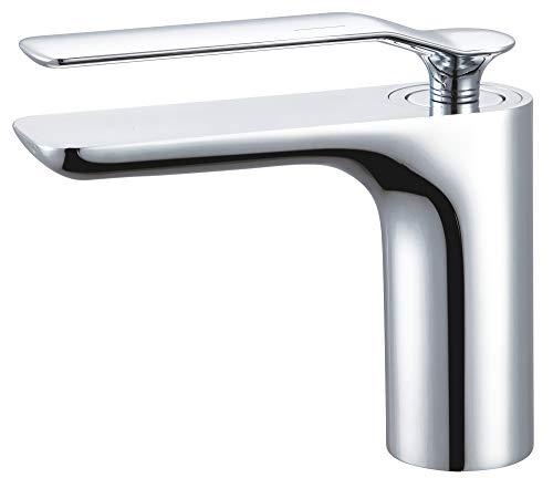 Serie KORA Design Bad Waschbecken Waschtisch Einhebel Armatur Wasserhahn Chrom Sanlingo