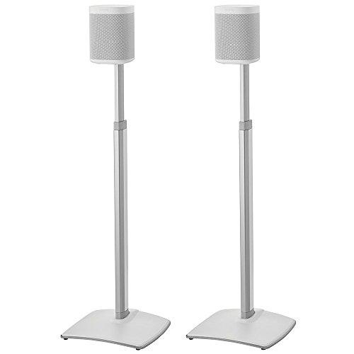 Sanus Höhe verstellbare Lautsprecher-Ständer in kabellos Paar für Sonos One Play: 1und Play: 3–weiß