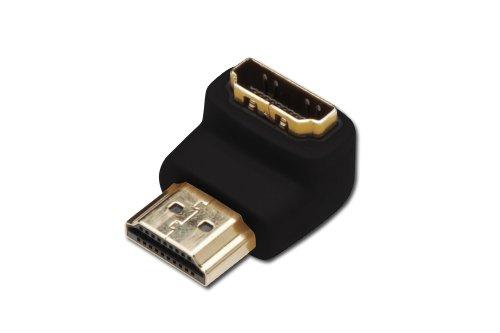 Digitus DK330513000D Adattatore Connettori HDMI Maschio/Femmina, Angolo a 90 Gradi