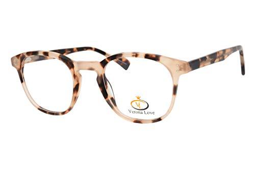 Rx-able Reading Eyeglass Frames, Mens and Women Premium Designer Acetate Hand Made Optical Frame With Rxable Demo Lenses (Vintage Demi Chestnut)