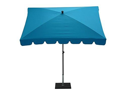 Maffei Art 86r Allegro, Parasol rectangulaire cm 240x160, Tissu TexMa, fabriqué en Italie. EXCLUSIVITE Couleur Turquoise