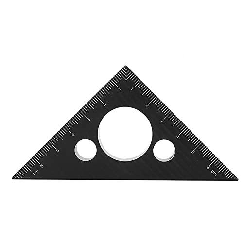 Regla triangular de carpintero Carpintería Diseño de 45 grados Herramienta de medición de ángulo triangular de aleación de aluminio espesada cuadrada de carpintero